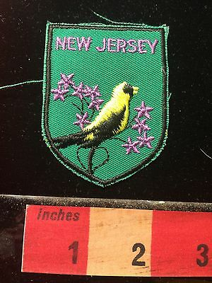 PURPLE LETTER VERSION New Jersey State Bird Collector Patch 60C1
