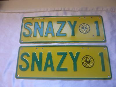 "Personalised Number Plates Sa South Australia ""snazy 1"""