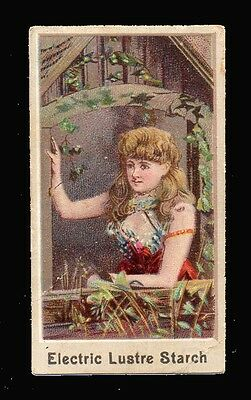 """1890 Electric Lustre Starch same as ACC-N488 Tobacco cards """"Actresses"""""""
