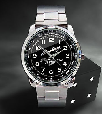 2015 Ford Mustang GT Convertible Manual Wrishwatches Sport Metal Watch
