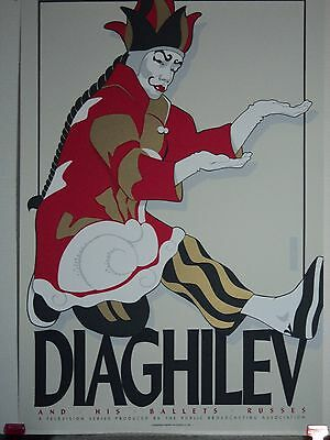 Diaghilev & His Ballets Russe Silkscreen in good condition. Free Shipping!