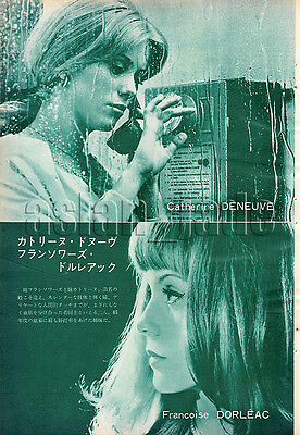 1966, Catherine Deneuve Francoise Dorleac / Catherine Spaak Japan Clippings 3sc2