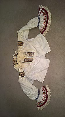 Antique slovak hungarian  National costume blouse ....stunning Embroidery.