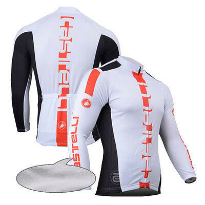 Fit XL New Men's Cycling Jerseys Long Sleeve Bicycle Jackets Thermal Fleece Hot