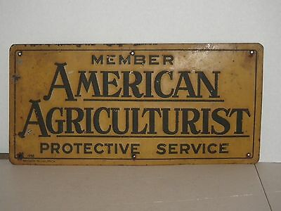 1956 American Agriculturist Member Sign Bradco Mich Antique Farm Ag Advertising