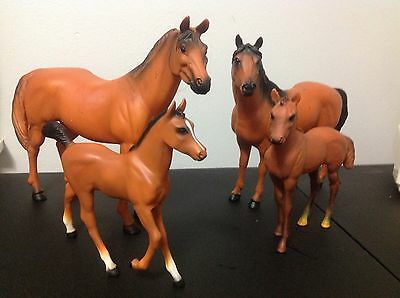 Vintage Blue Box Horse Family Set Rare Collectable