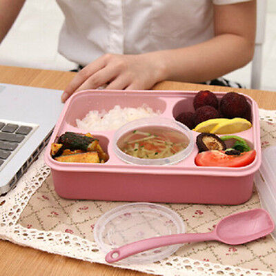 Five Plus A Bowl Microwave Multi-Compartment Lunch Box Picnic Food Containers
