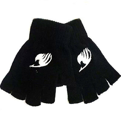 Anime Fairy Tail Guild Lucy Cosplay Cotton Knitted Gloves Fingerless Mitten Gift
