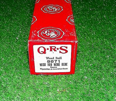 Vintage QRS Player Piano Roll Wish You Were Here Chicago 8871 Excellent Tested