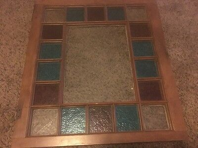 Antique Queen Anne Victorian Stained Glass Window, 28 by 33 Inches