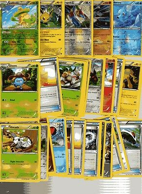 POKEMON CARD LOT # 23 ( x 5 FOIL AND 30 BASE CARDS )