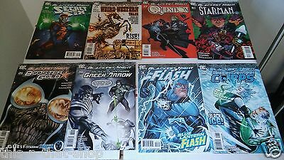 Blackest Night Tie Ins Issues Misc Lot Of 8 Comics Used Read Readers Copy Flash