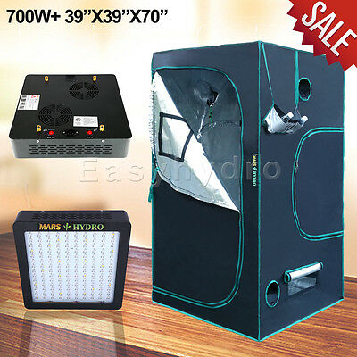 "Mars II 700W Led Grow Light Kits+ 39""x39""x70""Grow Tent Hydroponics Indoor Garden"