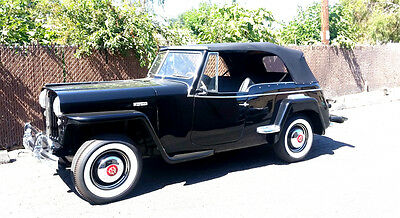 1948 Willys Jeepster  1948 1950 Willys Jeepster 6 cylinder 3 speed over drive Restored California Jeep