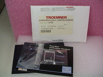 TROEMNER 20 MG NIST CLASS F CALIBRATION WEIGHT - New