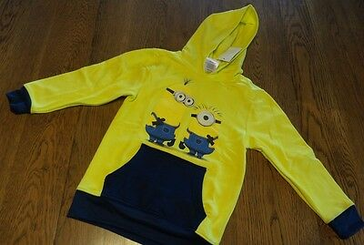 Size M New Despicable me Minions hoodie sweatshirt pullover Yellow Boys Girls