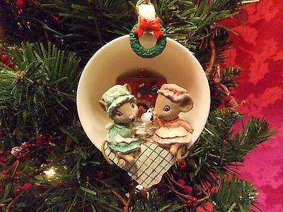 Enesco Cozy Cup ornament Christmas Cookin #2 in series Tea for Two