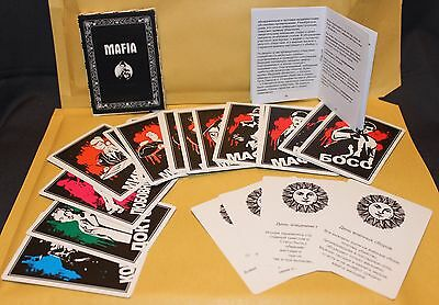 In Russian game - Mafia role party board game 26 Cards Мафия ролевая игра 26 кар