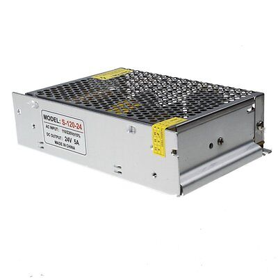 5A 24V Universal Converter Regulated LED Switch Power Supply 120W DC/AC Voltage