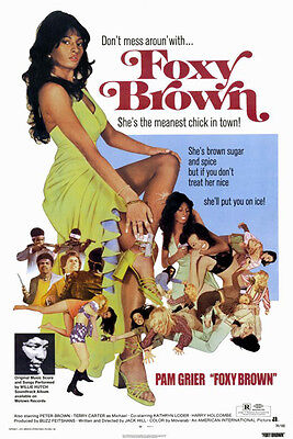 Foxy Brown (1974) movie poster reproduction single-sided rolled