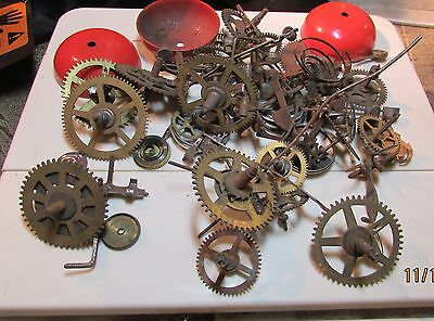 12.6 0zSteampunk WATCH Parts Old Pieces Steam Punk Cogs Gears Wheels Vintage Lot