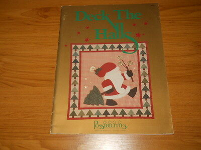 Quilting Book~Deck The Halls~Christmas Decorations And Quilts~Templates~Wreath