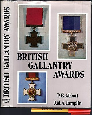 BRITISH GALLANTRY AWARDS P E Abbott & J M A Tamplin As New 359pg Hardcover w/jkt