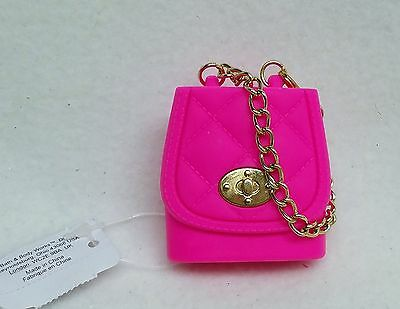 1 Bath & Body Works PINK PURSE Chain Pocketbac Holder Clip Sleeve Case Sanitize