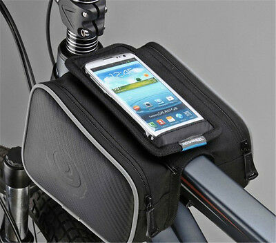 Cycling Bike Bicycle Front Tube Frame Pannier Double Bag Holder for Cellphone