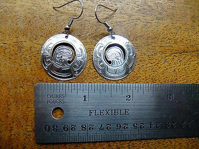 Sterling Silver Raven Earrings - First Nations - Northwest Coast - Beauties