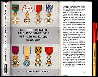 ORDERS MEDALS and DECORATIONS of Britain & Europe Paul HIERONYMUSSEN As New HCDJ