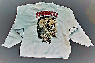Sweat Shirt Dooling Spindizzy Tether Race Car Lt Gray Printed USA Size L