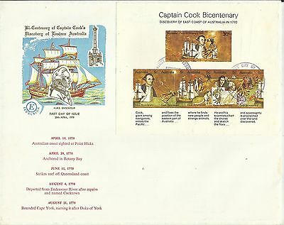 Australia Fdc First Day Covers ~ 1970 Captain Cook Bicentenary (Postmarks)
