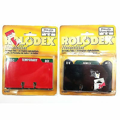 Rolodex Necessities 48 Cards File Index Organizing 2.25 x 4 inch Office o196