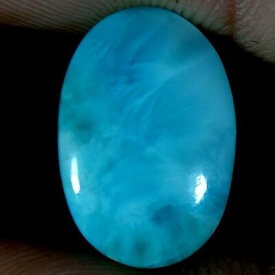 13.20Cts. 100% NATURAL SKY BLUE LARIMAR OVAL CABOCHON UNTREATED LOOSE GEMSTONES