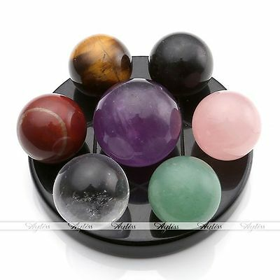 Natural Healing Chakra Ball Stones Fengshui Seven-Star Array Plate Set With Box