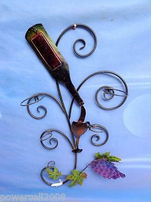 European Retro Style Purple Grapes Wall Decorative Wine Bottle Holder/Rack