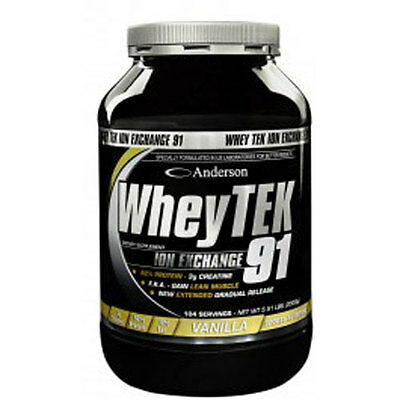 PROTEINE WHEY TEK 91 ANDERSON RESEARCH 2Kg CON CREATINA