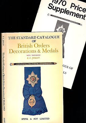 The STANDARD CATALOGUE of BRITISH ORDERS, DECORATIONS & MEDALS EC 1969