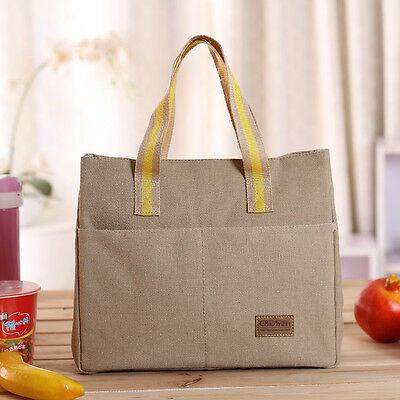 Portable Insulated Thermal Cooler Lunch Box Carry Tote Travel Picnic Storage Bag