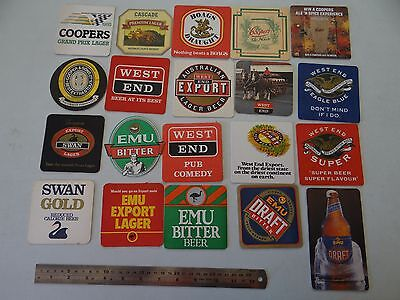 20 x MIXED COLLECTABLE BEER COASTERS/MATS SB10