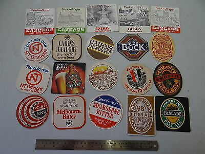 20 x MIXED COLLECTABLE BEER COASTERS/MATS SB11