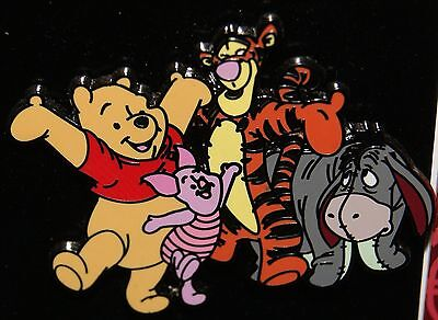 DISNEY 2007 Winnie the Pooh and Friends Pin TIGGER EEYORE PIGLET NEW ON CARD