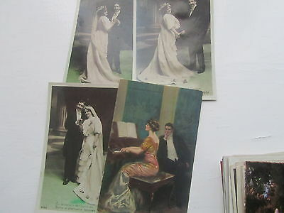 Glamour Romance  Collection 30 Old Postcards very attractive