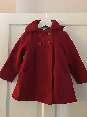 Red Wool Coat Age 3