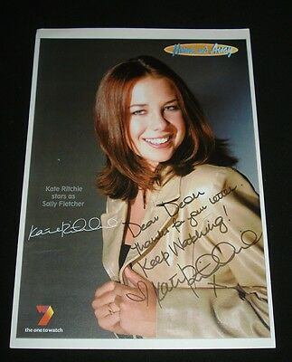 KATE RITCHIE  HOME & AWAY SALLY FLETCHER FAN CARD SIGNED Channel 7 TV Show
