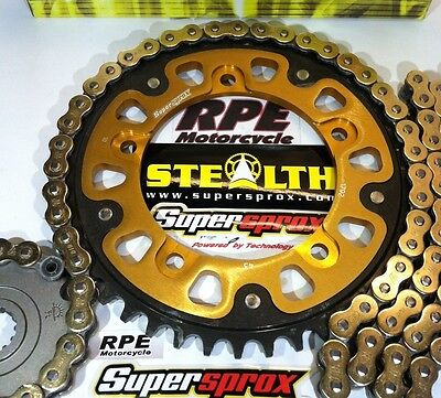 Triumph 865 Scrambler Chain and Sprockets Kit Supersprox DID Gold 525 X-Ring OEM