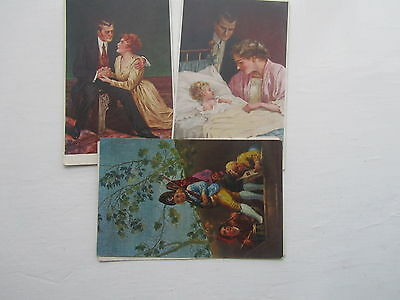 Glamour artist signed  Collection 16 Old Postcards very attractive