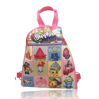 New Shopkins® Drawstring Backpack School Swim Library Bag 33 x 27cm