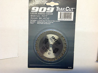 909 2 x 89mm TCT Saw Blades Trak Cut Carbide Tipped 24 Teeth Power Saw